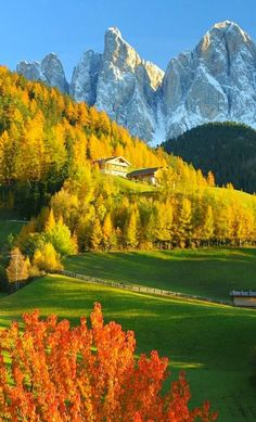 Autumn in the Dolomites, Italy