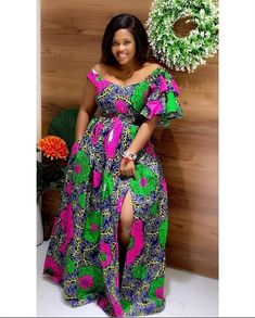 ZAHRA African print off shoulder maxi dress with ruffled sleeves, plus size african print clothing for women, Ankara plus size maternity dress by AfricanDressStudio – Zahra Styles Dresses Long Ankara Dresses, Ankara Long Gown Styles, African Maxi Dresses, African Fashion Ankara, Latest African Fashion Dresses, African Print Fashion, African Attire, African Dresses Plus Size, Ankara Styles