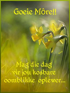 Morning Blessings, Good Morning Wishes, Lekker Dag, Goeie Nag, Goeie More, Afrikaans Quotes, Deep Thoughts, Life Lessons, Best Quotes