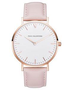 Paul Valentine Armbanduhr | Marina Rose Gold Rosa | Damen Uhr mit elegantem