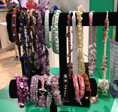 French Knitter Jewelry Display from Clover booth at CHA