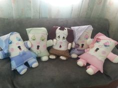 Cute Pillows, Baby Pillows, Kids Pillows, Sewing Toys, Sewing Crafts, Sewing Projects, Fabric Toys, Fabric Crafts, Diy Pillow Covers