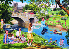 Time Of Our Lives Riverbank #jigsaw #puzzle #gifts #grandparents #children #christmas #xmas #fun #family #hobby #gibsons