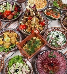 Bulgarian food is in many ways similar to the food served in Greece and Turkey: tomato, cucumber and cheese salad (shopska salad), moussaka (musaka), filo pastries (by. Food Styling, Shopska Salad, Bulgaria Food, Nigeria Food, Macedonian Food, West African Food, European Cuisine, Bulgarian Recipes, Foodblogger
