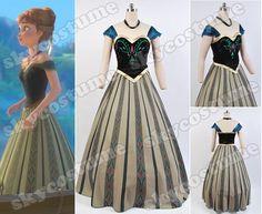 Disney Movie Frozen Anna Coronation Dress Suit Disney Cosplay Costume from Frozen