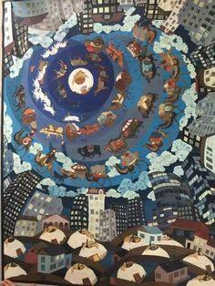 Mongol zurag Mungunzul 2016 Print Design, Quilts, Blanket, Korea, Artists, Painting, Art Production, Quilt Sets, Artist