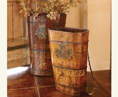 Vintage french harvest barrel