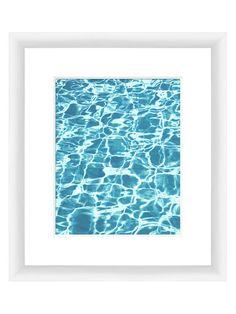 Clear Aquas I (Framed Giclee)