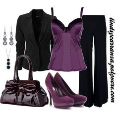 Who loves this purple? I can honestly say that this whole outfit is the definition of Classy & Sexy...Feminine & Commanding! Love, love, love!