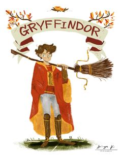 """""""WE COME FORM DIFFERENT HOUSES""""   Gryffindor  """"After I posted the pic of slytherin girl (here's the link if you don't know), I decided to draw other 3 houses' students to..."""