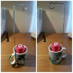 Cone thread holder stand - free, cheap, easy