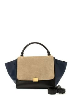 Vintage Celine Leather Trapeze Bag