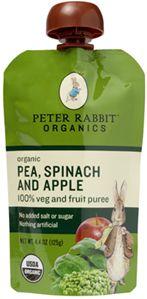 Pea, Spinach and Apple Veggie Blends - Peter Rabbit Organics