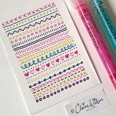 Drawing Doodles Ideas 40 Simple and Easy Doodle Art Ideas to Try - Gone are those days when doodling was only for the kids. If you want to touch your artistic side, these simple and easy doodle art ideas to try. Bullet Journal Mise En Page, Bullet Journal Banner, Bullet Journal Writing, Bullet Journal Ideas Pages, Bullet Journal Inspiration, Borders Bullet Journal, Page Borders Design, Easy Doodle Art, Doodle Borders