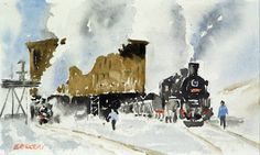 Railway watercolor