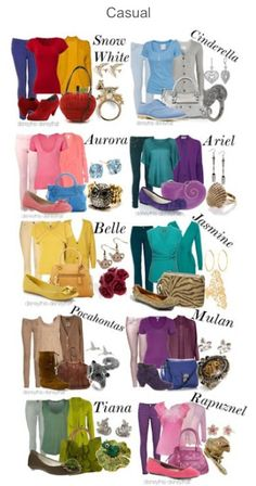 Causal Disney princess outfits : Disney : matching outfits