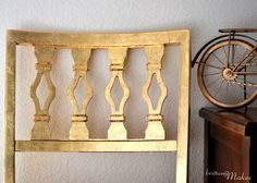 #DIY Gild A Chair in Gold