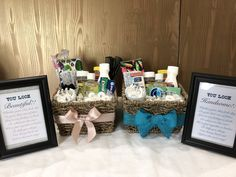 Bathroom Basket — Darling And Dapper Wedding Toiletry Basket, Wedding Favours, Wedding Reception, Bathroom Basket Wedding, Wedding Baskets, Mother Son Wedding Dance, Wedding Signs, Our Wedding, Wedding Survival Kits