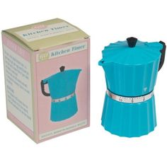 Blue Coffee Pot Kitchen Timer from Rex London - the new name for dotcomgiftshop. Great value gifts and homeware in original designs. Free UK delivery available. Novelty Items, Novelty Gifts, Kitchen Gifts, Kitchen Tools, Vintage Phones, Kitchen Timers, Countdown Timer, Stylish Kitchen, Egg Shape