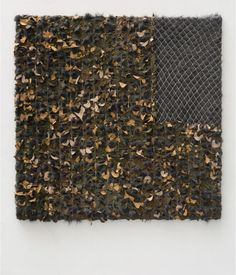 "Patrick Saytour, ""Camouflet"" ('Snub'), 2011, Synthetic fur, net of camouflage,  150 X 150 cm"