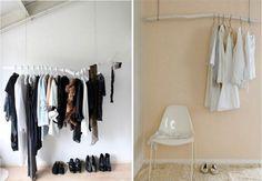 Ideen für Kleiderständer Design - die Kleidung ohne Schrank