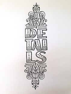 Details Handwritten typography 8.4.15 #AllAboutIt