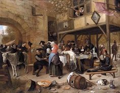 Jan Steen Feast of the Chamber of Rhetoricians near a Town-Gate Oil on canvas 64 x 84 cm Georg Trakl, Dutch Republic, Dutch Golden Age, Philadelphia Museum Of Art, Dutch Painters, Art Database, Oil Painting Reproductions, Colorful Paintings, Saint Nicholas
