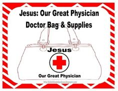 This doctor bag was used with preschoolers while we studied Jesus and His Miracles. They loved it! I printed the bag on Kraft (brown) cardstock.   You can see more about Jesus and His Miracles and this project with photos, ideas & more printables @ Bible Fun For Kids