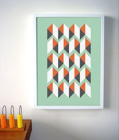 Geometric Pattern, Abstract Art Print, Abstract Poster. $35.00, via Etsy.
