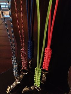 550 Paracord Lanyard Variety of Colors Cobra Knot by BlueStyles, $5.00