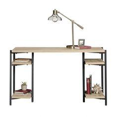 Laverton Industrial Style Chunky Bench Desk In Charter Oak Effect