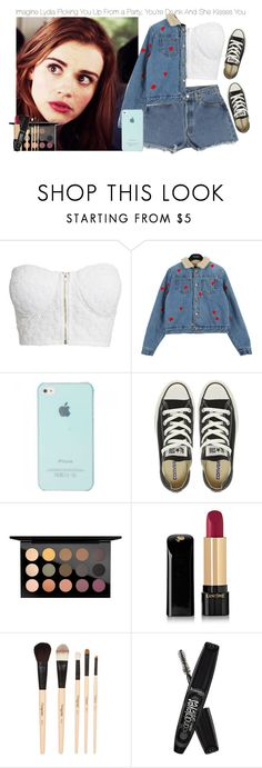 """""""Imagine Lydia Picking You Up From a Party, You're Drunk And She Kisses You"""" by fandomimagineshere ❤ liked on Polyvore featuring NLY Trend, Converse, MAC Cosmetics, Lancôme, Gorgeous Cosmetics, Rimmel, kitchen and bathroom"""