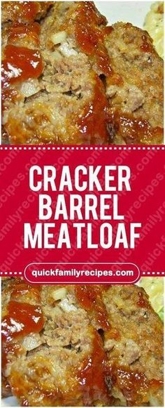 Cracker Barrel Meatloaf You Need: 2 eggs cup milk 32 Ritz crackers, crushed cup chopped onion Cracker Barrel Meatloaf, Cracker Barrel Recipes, Cracker Barrel Pancakes, Cracker Barrel Chicken, Ritz Cracker Recipes, Beef Dishes, Food Dishes, Main Dishes, Meatloaf Recipe With Crackers