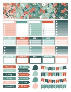 Botanical Weekly Sticker Kit