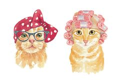 Whimsical Watercolor Cats by Deidre Wicks — hauspanther