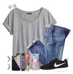 """""""+guys please, please rtd"""" by theblonde07 ❤ liked on Polyvore featuring H&M, Casetify, Honora, Too Faced Cosmetics, NIKE, Lilly Pulitzer and endcyberbullyingnow"""