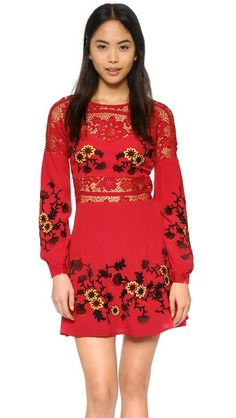 For Love & Lemons Isabella Long Sleeve Dress