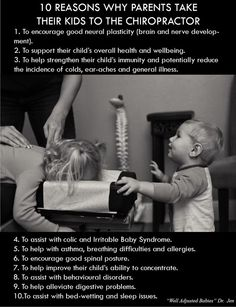 Here are 10 great reasons you should take you kids to see a chiropractor. We have a great kids chiropractor right here in Naperville, IL. Call us today for a free consultation and find out what chiropractic can do for your kids. Time to take that action step. http://paintohealth.com