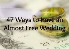 On a budget? Click here for creative ideas and tips to save big money on your wedding.  #budgetwedding #weddingideas Cheapest Wedding Ideas, Cheep Wedding Ideas, Cheap Wedding Rings, Creative Wedding Ideas, Creative Ideas, Garden Wedding Ideas On A Budget, Cheap Backyard Wedding, Affordable Wedding Venues, Diy Ideas