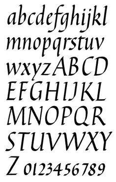 Italic alphabet