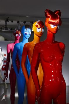 "ABC MANNEQUINS,Milan, Italy, ""3...2...1...Let's Play! Pac Mannequins"", (JUNO COLLECTION), pinned by Ton van der Veer"