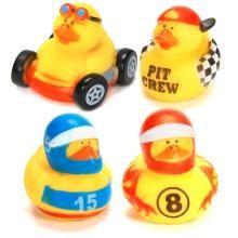 Race Car Rubber Duckies #racecar #racecarparty #gifts www.bitememore.com