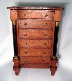 Antique Salesman Sample Oak Dresser American 1800s Box