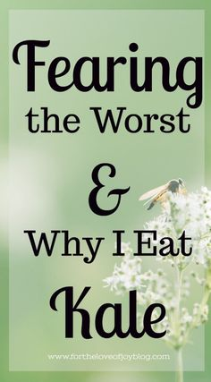 God's been asking me to be still. And it's hard! Scared He is leading me to a season of change, I am sitting still as can be. Waiting on Him.  Fearing the Worst & Why I Eat Kale – For The Love of Joy Blog