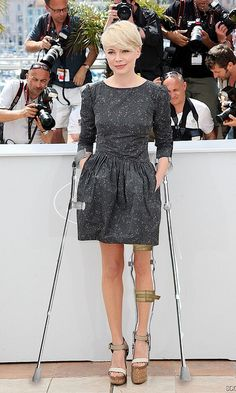girl with kafo and crutches in style!