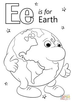 How To Produce Elementary School Much More Enjoyment 30 Beautiful Picture Of Earth Coloring Pages . Earth Coloring Pages Letter E Coloring Pages Letter E Is For Earth Coloring Page Free Letter A Coloring Pages, Earth Day Coloring Pages, Family Coloring Pages, Coloring Pages For Girls, Free Printable Coloring Pages, Coloring Sheets, Colouring, Letter E Worksheets, Letter E Activities