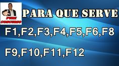 Para que serve as teclas F1,F2,F3,F4,F5,F6,F7,F8,F9,F10,F11,F12