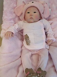 ASIAN REBORN BABY GIRL~GHSP~PREMIUM ROOTED MOHAIR~GLASS EYES~SO REAL LOOKING!~NR