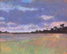 Setting Sun over the Great Pool - Paul Lewin - Beside the Wave Drawing Artist, Painting & Drawing, Sketching, Waves, Outdoors, Paintings, Artists, Sunset, Landscape