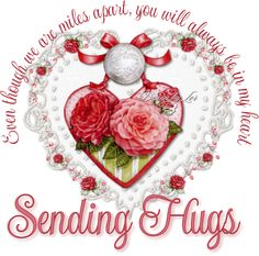 Even though we are miles apart, you will always be in my heart. Sending Hugs friendship quote hugs missing you friend friend quote miles apart Hugs And Kisses Quotes, Hug Quotes, Happy Quotes, Hello Quotes, Sister Quotes, Prayer Quotes, Friend Quotes, Genuine Friendship, Happy Friendship